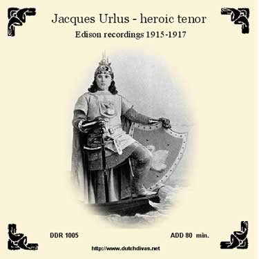 Jacques Urlus - Edison recordings 1915-1917, cd3